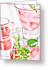 Pink Cocktails Greeting Card by HD Connelly