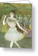 Pink Dancer  Greeting Card by Edgar Degas