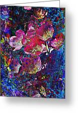 Pink Floral Abstract Greeting Card