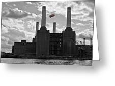 Pink Floyd Pig At Battersea Greeting Card