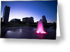 Pink Fountain Greeting Card