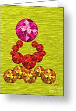 Pink Gem Crown Greeting Card