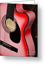 Pink Guitar Greeting Card