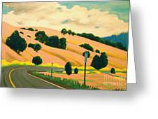 Pink Hills Greeting Card