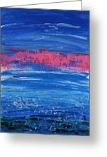 Pink In Sky Over Whitecaps Greeting Card
