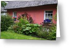 Pink Irish Cottage Greeting Card