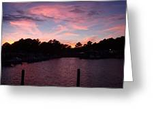 Pink N Blue Sunset On The Chesapeake Bay Va Greeting Card