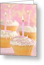 Pink Party Cupcakes Greeting Card
