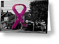 Pink Ribbon For Breast Cancer Awareness Greeting Card