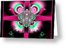 Pink Ribbons And Bow Fractal 75 Greeting Card