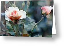 Pink Rose Bush Greeting Card