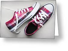 Pink Sneakers Greeting Card