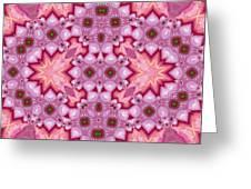 Pink Splash Mandala Abstract Greeting Card