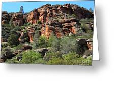 Pinnacles Rock Face Photograph Greeting Card