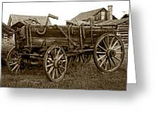 Pioneer Freight Wagon - Nevada City Ghost Town Greeting Card by Daniel Hagerman