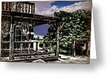 Pioneer House Greeting Card by Danuta Bennett