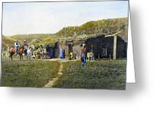 Pioneers Sod House, 1887 Greeting Card