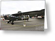 Piper L4 Grasshopper Usa Greeting Card