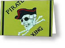 Pirate Crossing Beware Greeting Card