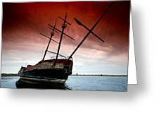 Pirate Ship 2 Greeting Card by Cale Best