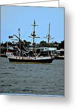 Pirate Ship Of The Matanzas Greeting Card