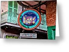 Pirates Alley Cafe Greeting Card by Bill Cannon