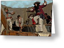 Pirates Of Peril Greeting Card by DigiArt Diaries by Vicky B Fuller