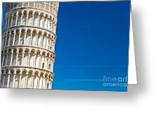 Pisa Leaning Tower Greeting Card