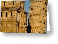 Pisa Tower And Cathedral Greeting Card