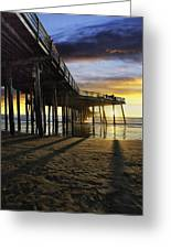 Pismo Beach Pier IIi Greeting Card