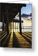Pismo Pier Sunset II Greeting Card