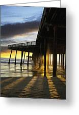 Pismo Pier Sunset IIi Greeting Card