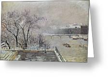 Pissarro: Louvre, 1902 Greeting Card