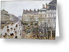 Pissarro: Theatre Francais Greeting Card