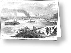 Pittsburgh, 1853 Greeting Card