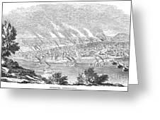 Pittsburgh, 1855 Greeting Card