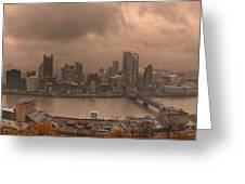 Pittsburgh Skyline 1 Greeting Card by Wade Aiken