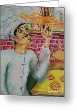 Pizza Chef Greeting Card