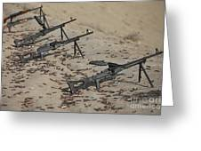 Pk Machine Guns And Spent Cartridges Greeting Card