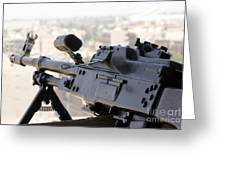 Pkm 7.62 Machine Gun Nest On Top Greeting Card by Terry Moore