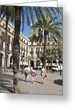 Placa Reial Barcelona Spain Greeting Card