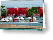 Plage Rouge Greeting Card