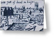 Plague, 1665 Greeting Card