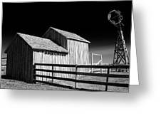 Plains Frontier Farm And Windmill Greeting Card
