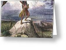 Plains Native American: Signal, 1873 Greeting Card
