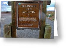 Plains Of San Agustin Greeting Card