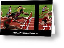 Plan Prepare Execute With Caption Greeting Card