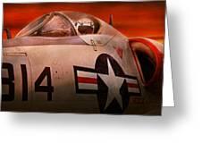 Plane - Pilot - Airforce - Go Get Em Tiger  Greeting Card