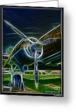 Plane Engine And Prop Greeting Card