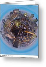 Planet Wee Montreal Quebec Greeting Card